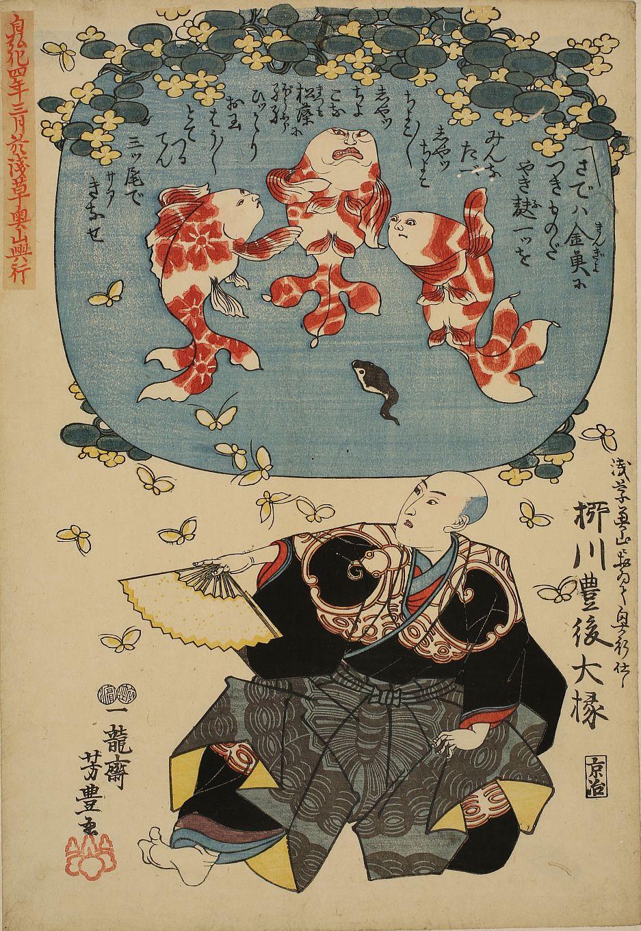 柳川一蝶斎 「うかれの蝶」 芳重筆 弘化4年(1947)