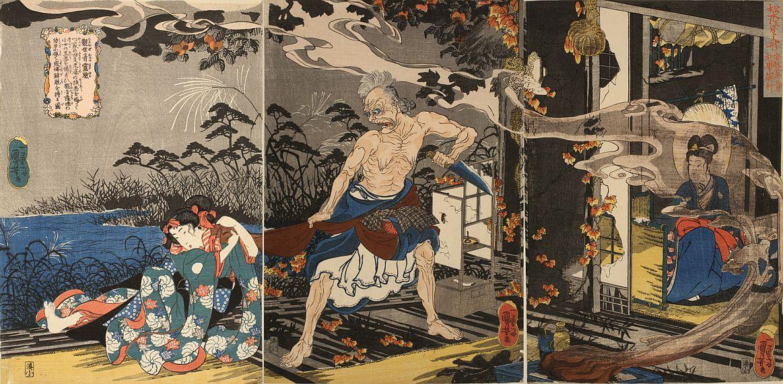 松本喜三郎 生人形 観世音霊験 国芳 筆 安政3年1月(1856)